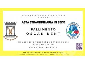 ASTA STRAORDINARIA FALLIMENTO OSCAR RENT MODALITA' SINCRONA MISTA 25 E 26 OTTOBRE 2018