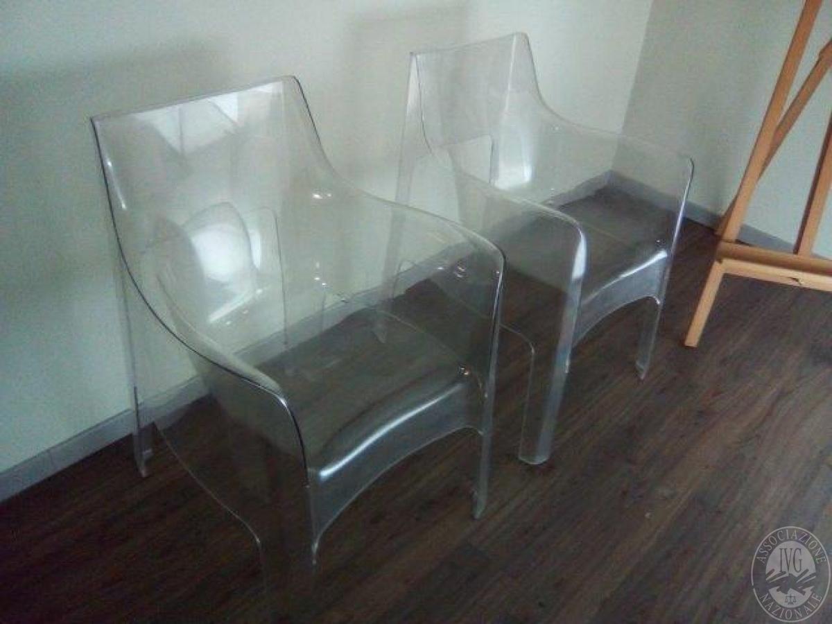 N 4 poltroncine di design in plexiglass trasparente - Poltroncine di design ...