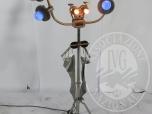 Immagine di Sequestro Giudiziario 4272/2012 - Lotto 68: Lampada da terra in metallo composizione oggetti cm. 55 x 165
