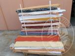 Immagine di Pezze di tessuti per tendaggi, altezza 3,00/3,30 metri, gia' parzialmente utilizzate di almeno 5 metri residui; vari colori e tessuti, principalmente poliestere