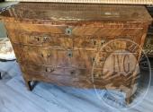 Como' 3 cassetti lastronato in legno di noce