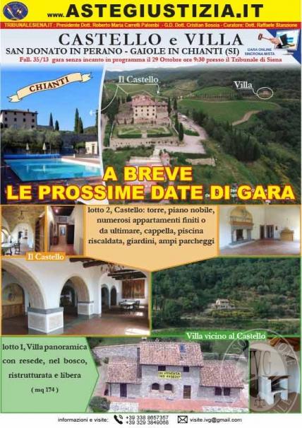 Toscana - Siena - Chianti - Castello San Donato in Perano e Villa nel bosco